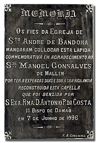 Manoel Gonsalves Plaque